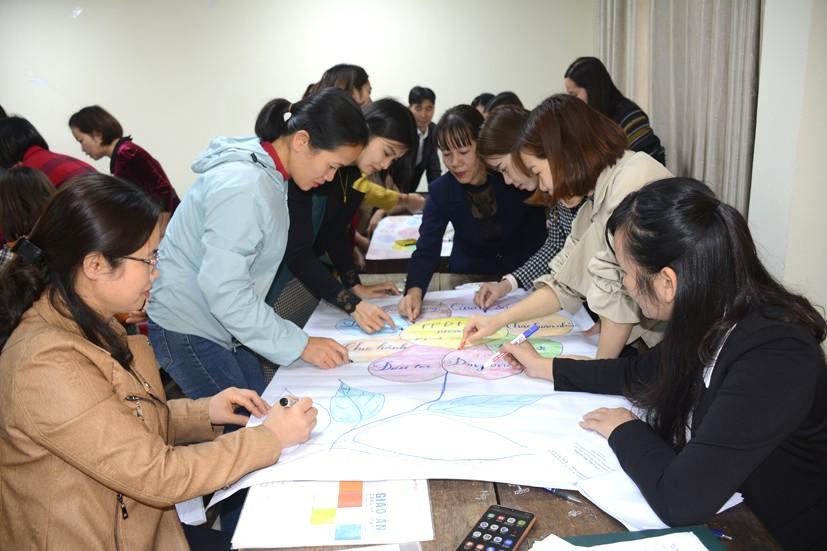 Giáo viên cốt cán cấp Tiểu học được tập huấn về sử dụng phương pháp dạy học, giáo dục phát triển phẩm chất, năng lực học sinh
